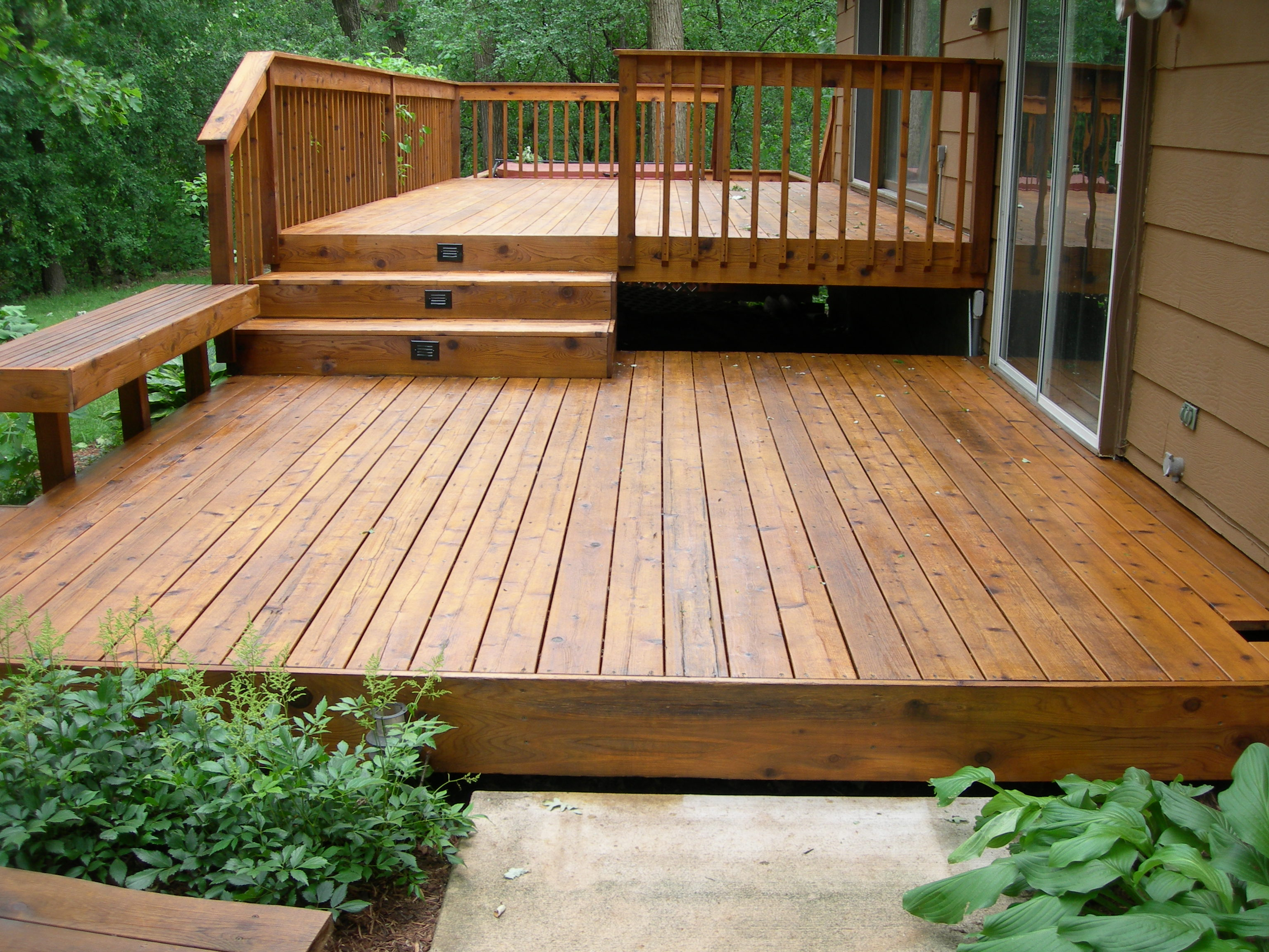 Simple Backyard Deck Designs : simple patio deck ideas